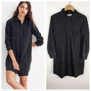 Madewell Denim Shirt Dress black small